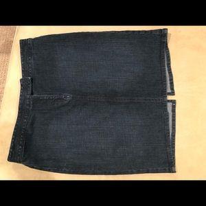 Loft dark denim pencil skirt